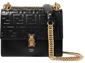Fendi Kan I Ff Logo Double F Shoulder Bag