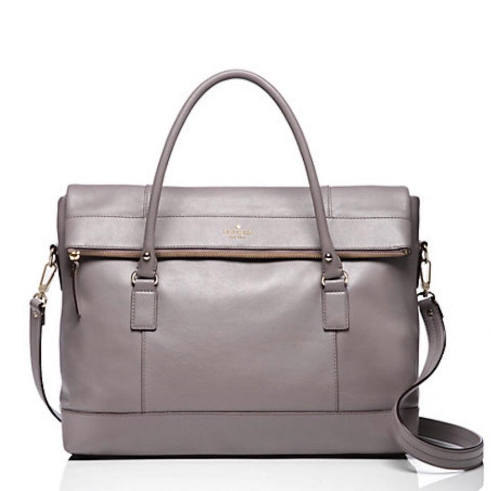 f79503d54 Kate Spade Fremont Place Carmen Grey Leather Weekend/Travel Bag ...