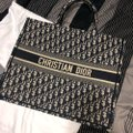 Dior Embroidered Book Blue Shopper Navy Canvas Tote Dior Embroidered Book Blue Shopper Navy Canvas Tote Image 7