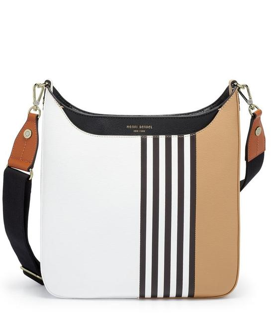 Item - Bowery Colorblock Centennial Stripe/Multi Pebbled Leather Messenger Bag