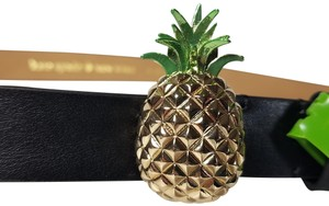 Kate Spade PINEAPPLE BUCKLE black leather belt