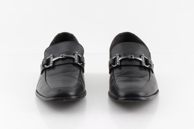 Item - Black Leather Loafers with Horse Bit Strap Shoes