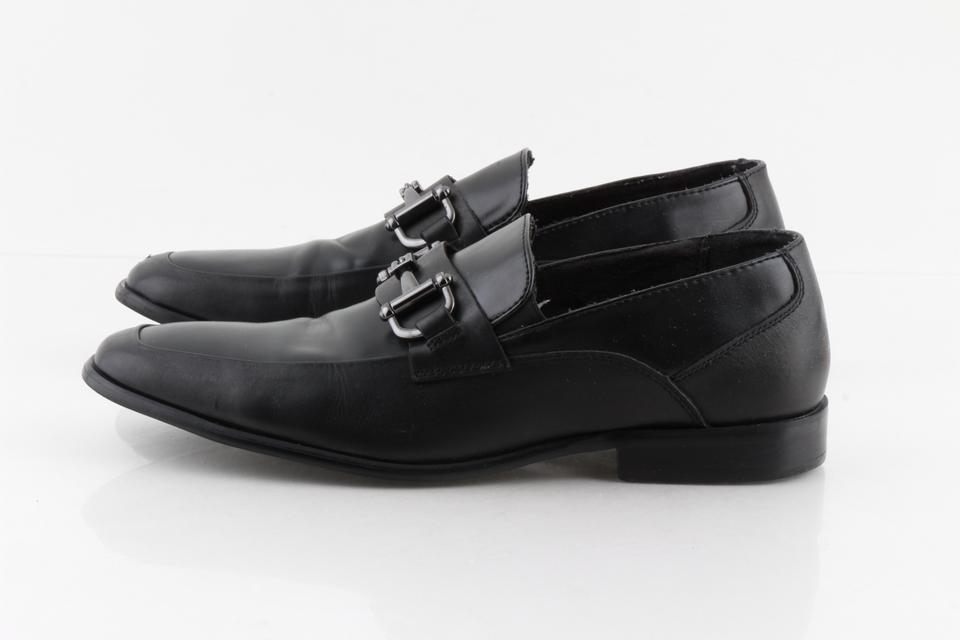 c0916f1002e Steve Madden Black Leather Loafers with Horse Bit Strap Shoes 35% off retail