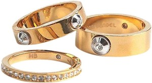 Henri Bendel Gold Miss Stack - 3 Separate Ring