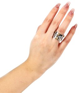Henri Bendel Miss Bendel Stack Rings 3 Bands Silver