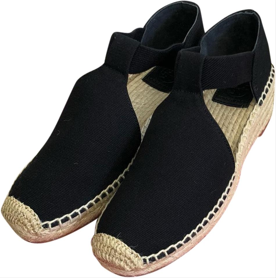 f77f2d3eafa Tory Burch Black Catalina Espadrille Wedges Size US 6.5 Regular (M ...
