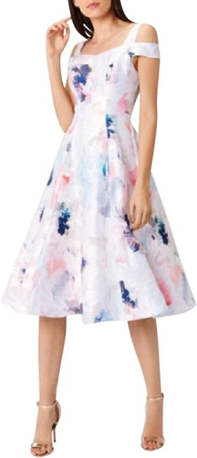 Item - Pastel El Cristo Cold Shoulder Fit and Flare Midi Us Mid-length Cocktail Dress Size 4 (S)