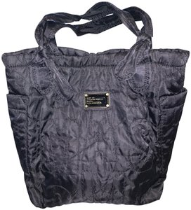 b4e2e548e091 Marc Jacobs Quilted Silver Hardware Nylon Knot Bow Tote in Black