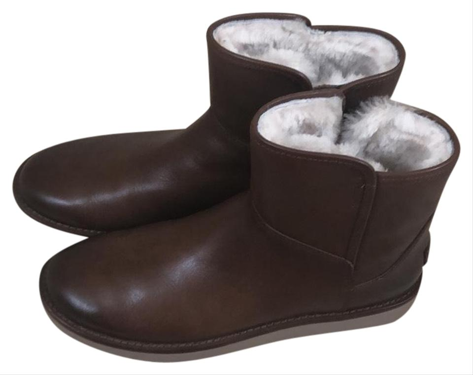 4279d67ca15 UGG Australia Brown Abree Mini Leather Boots/Booties Size US 9 Regular (M,  B)
