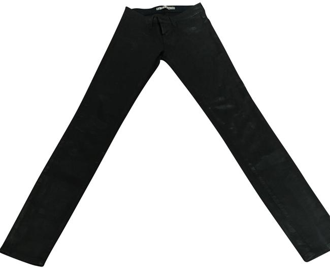 Item - Navy Coated Skinny Jeans Size 24 (0, XS)