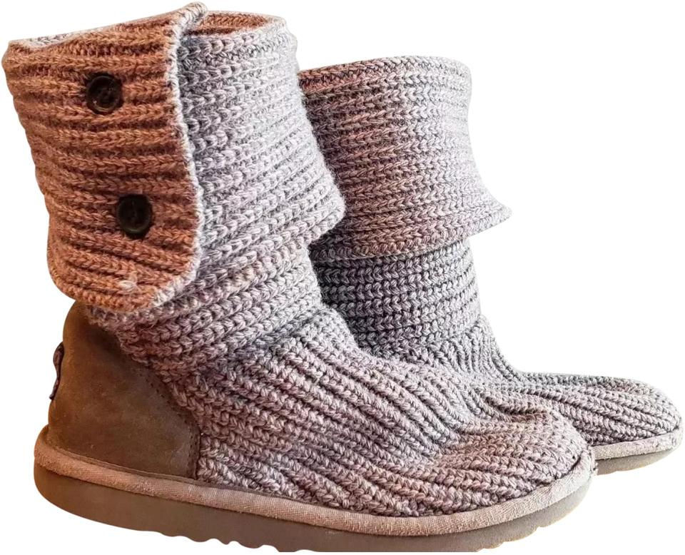 a3eb7672a UGG Australia Grey Knit Cardy Little Girls Boots/Booties Size US 13 ...