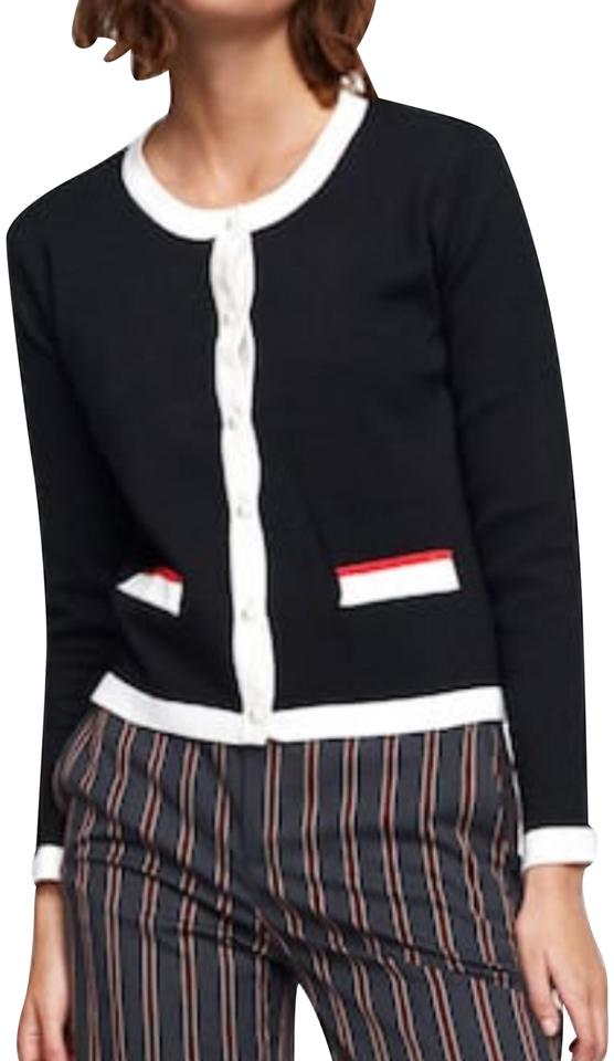 ff5852fb7d Zara Black   White   Red Gucci Inspired with Pearl Buttons Cardigan ...