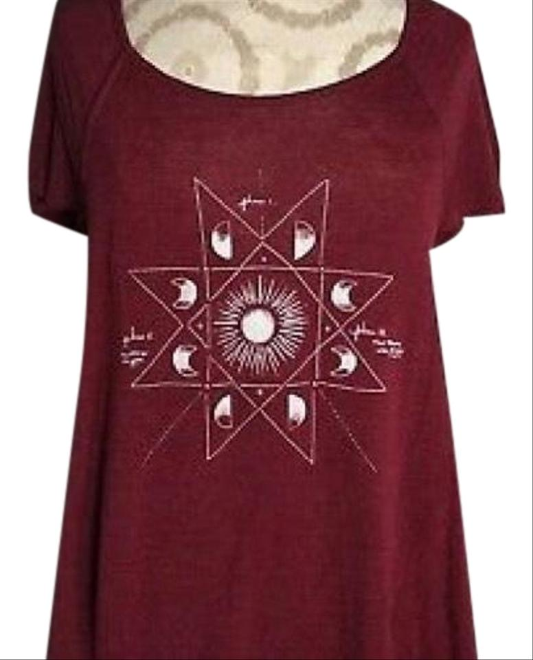 563eeb94441d0 American Eagle Outfitters Burgundy Moon Phase Tunic Size 2 (XS ...