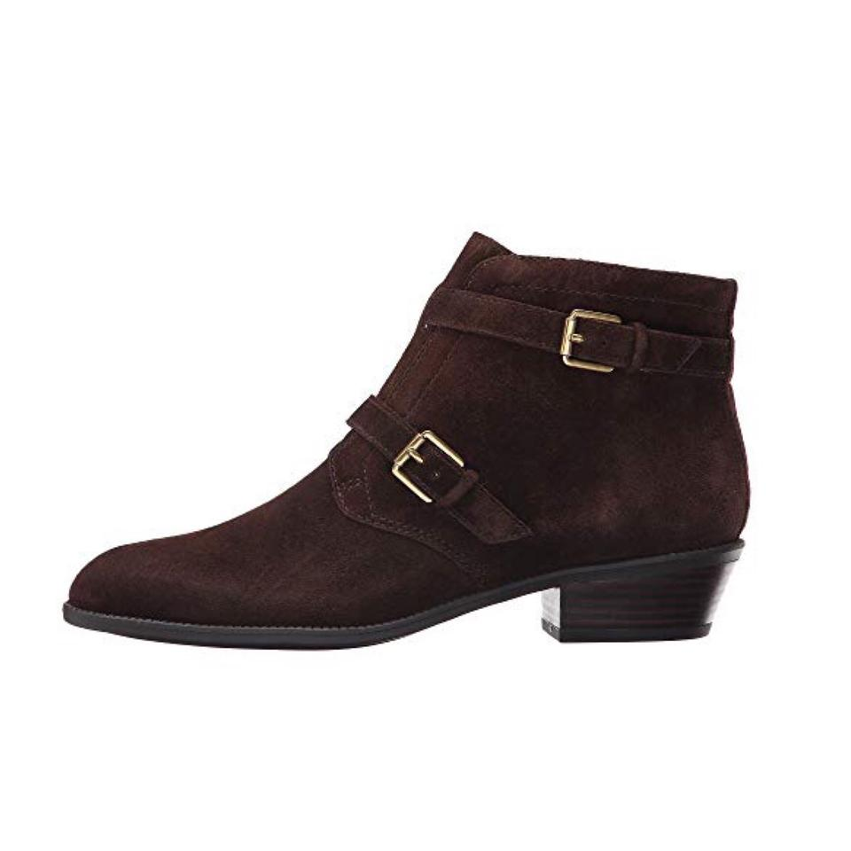a10ddd3ed624 Franco Sarto Brown Nwob Suede Buckle Ankle Boots Booties Size US 7.5 ...