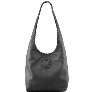 Tory Burch Pebbled Leather Marion Whipstitch Hobo Bag