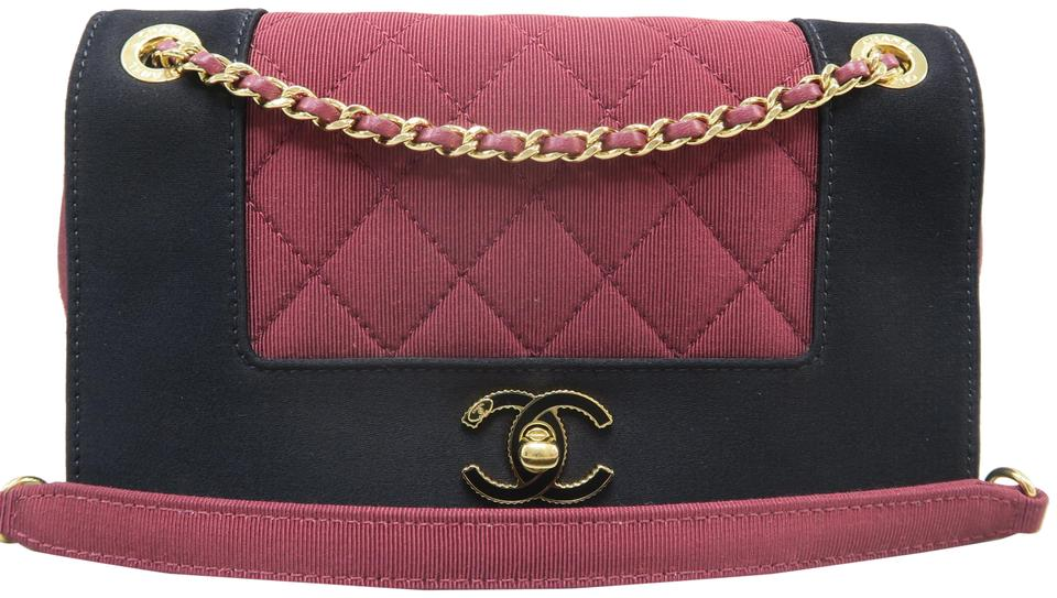 e1e6aa30dca2 Chanel Mademoiselle Red&black Canvas Shoulder Bag - Tradesy