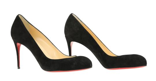 Christian Louboutin Suede Leather Black Pumps Image 1