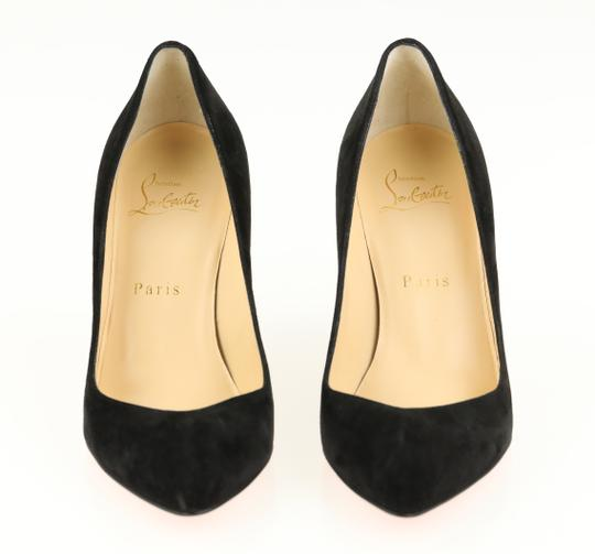 Christian Louboutin Suede Leather Black Pumps Image 4