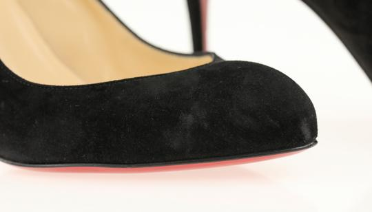 Christian Louboutin Suede Leather Black Pumps Image 7