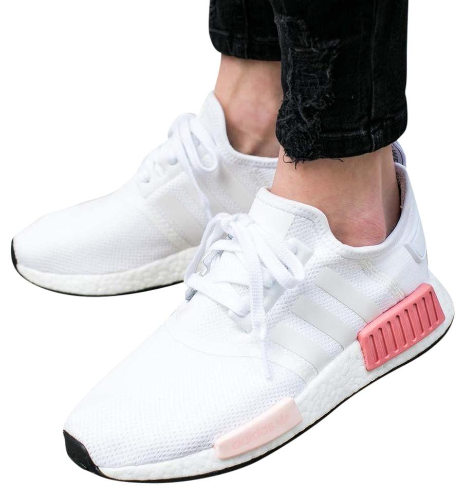 best sneakers de63f 9f4ca adidas Nmd R1 White   Pink Athletic Image 0 ...