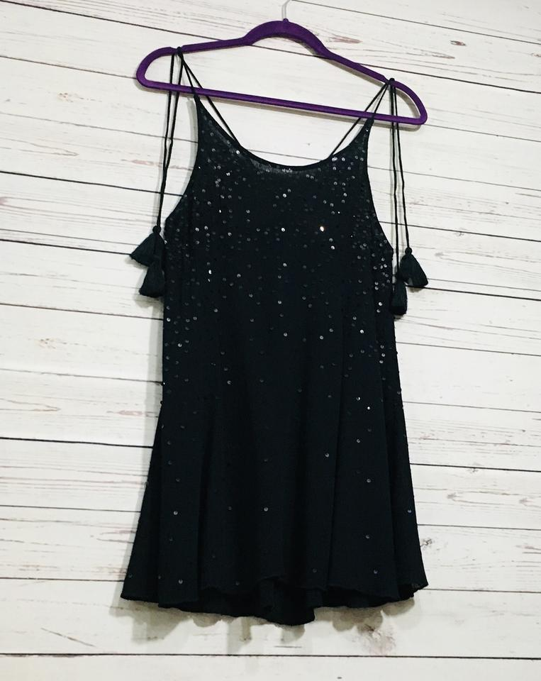 e52db3c270a0 Free People Black Just Watch Me Slip Sequin Short Casual Dress Size 6 (S) -  Tradesy