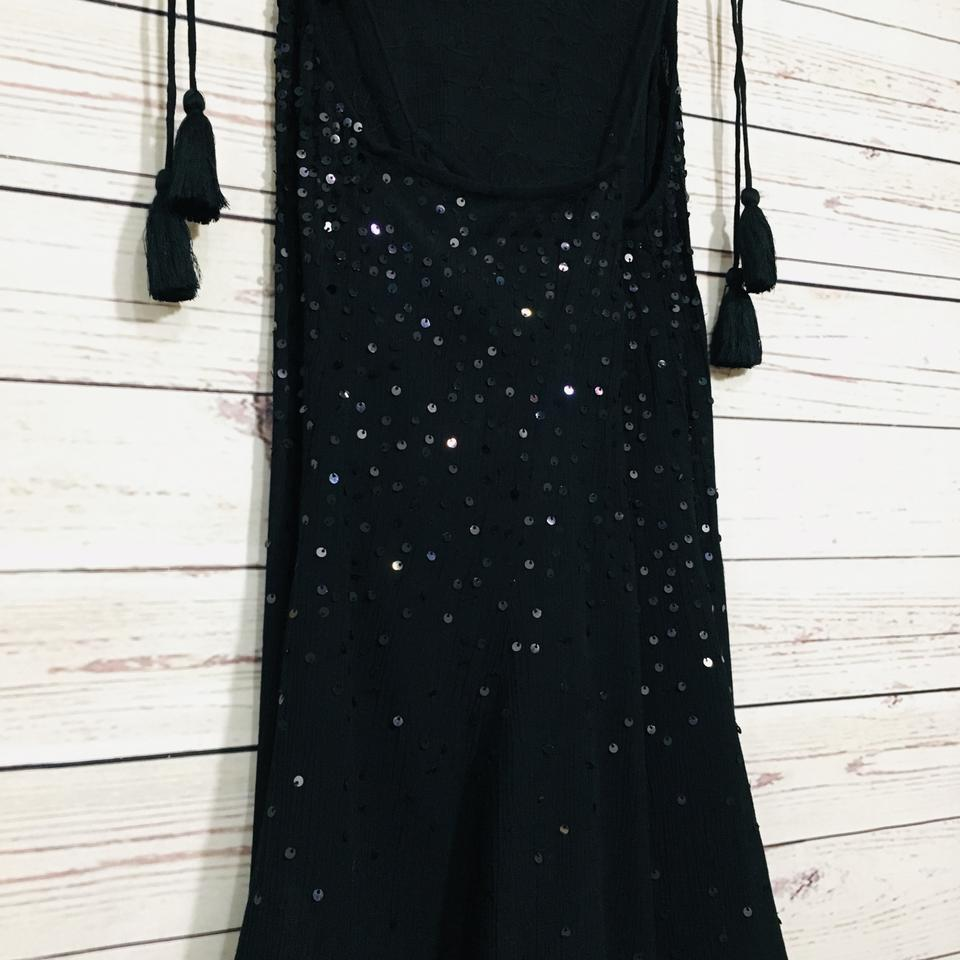 5fc885a0d9af Free People Black Just Watch Me Slip Sequin Short Casual Dress Size ...
