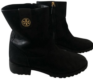 281f365c329a1e ... New Women s Leather Sofia Knee High Logo Boots Booties.  396.73   595.00. US 10. Tory Burch black Boots