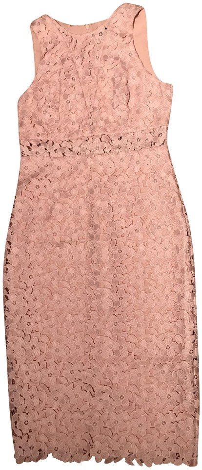 8c57aba05a08a5 Cynthia Rowley Pink Crochet Lace Mid-length Cocktail Dress Size 8 (M ...