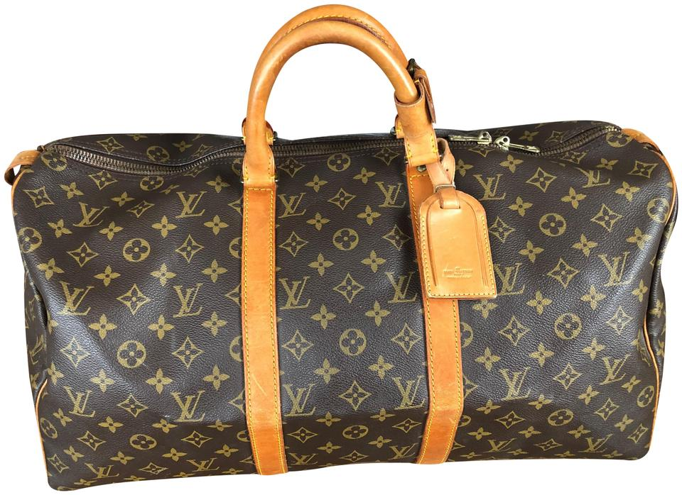 e10181f23 Louis Vuitton Lv Keepall 50 Lv Keepall 50 Keepall 50 Brown Monogram Travel  Bag Image 0 ...