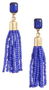 J.Crew NEW J. CREW BEADED TASSLE DROP EARRINGS DUST BAG NWT