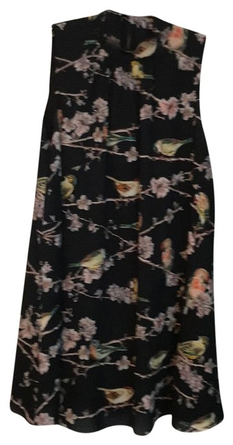 Preload https://img-static.tradesy.com/item/24759088/ted-baker-black-multi-trademark-bird-by-short-casual-dress-size-8-m-0-1-650-650.jpg