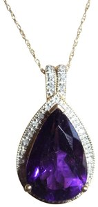 Other amethyst and diamond 10k gold