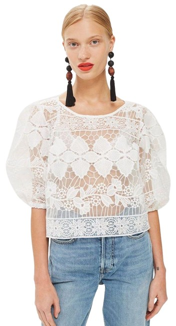 Preload https://img-static.tradesy.com/item/24759184/topshop-white-couture-organza-lace-blouse-size-4-s-0-2-650-650.jpg