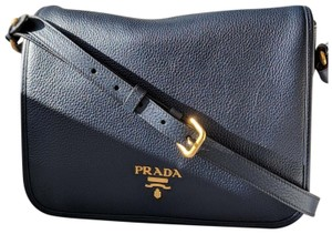 Prada Cross Body Hobo Navy Messenger Bag