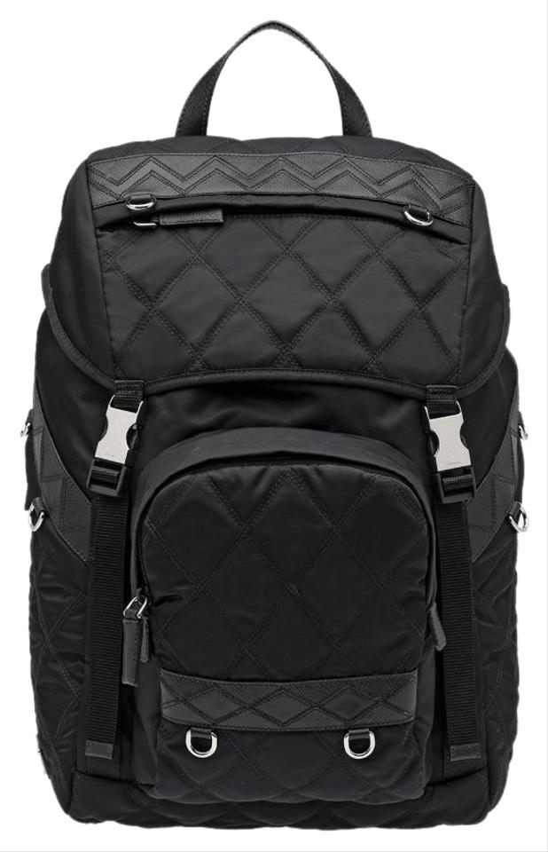 6c63f571a3e6 Prada Quilted 2vz135 Black Nylon Backpack - Tradesy