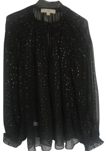 Ann Taylor LOFT Top Black with gold accents