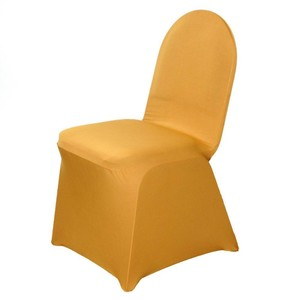 Gold Case Of 100 Spandex Banquet Chair Covers. Never Used Other