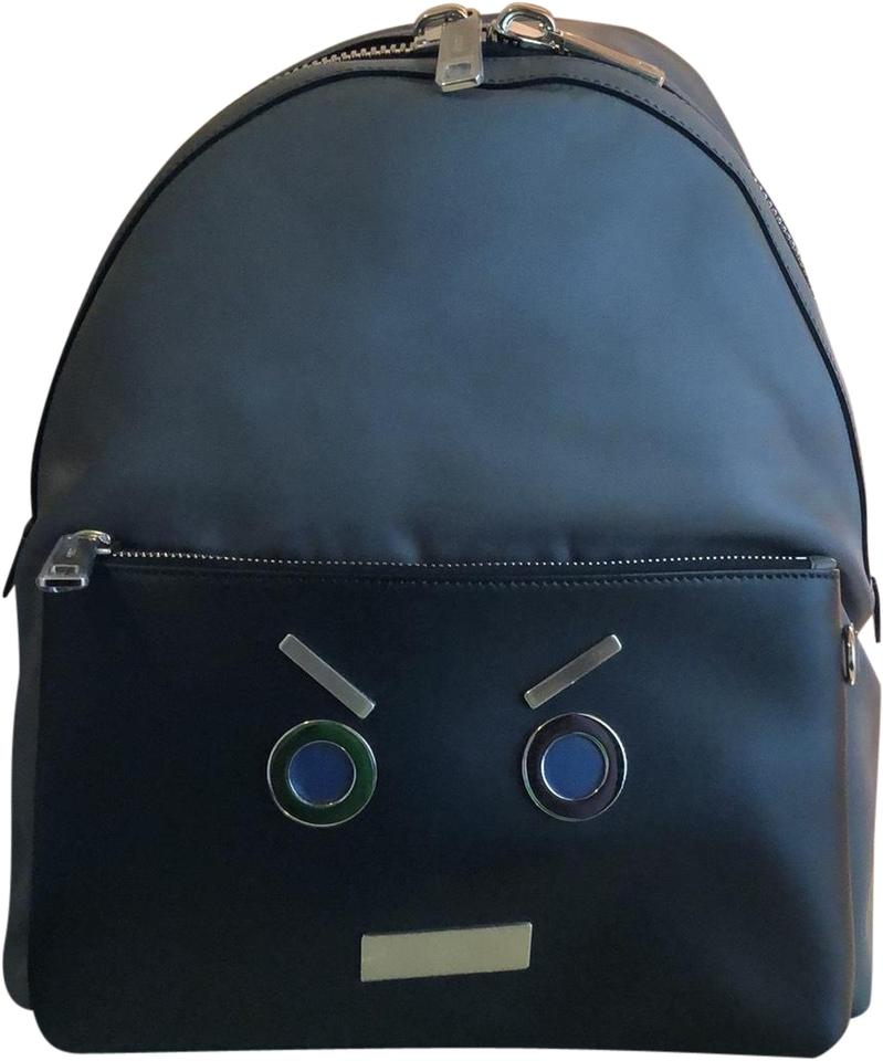 Fendi Gray and Black Leather Backpack - Tradesy d15174deb4