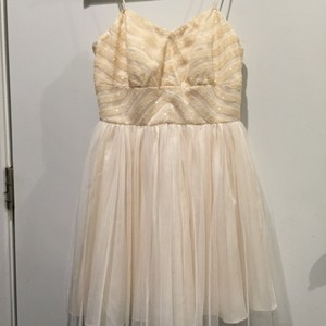 Ivory Neiman Marcus Formal Casual Wedding Dress Size 4 (S)