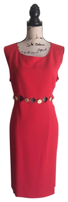 Preload https://img-static.tradesy.com/item/24759513/versace-red-gianni-couture-atelier-mid-length-short-casual-dress-size-14-l-0-12-650-650.jpg