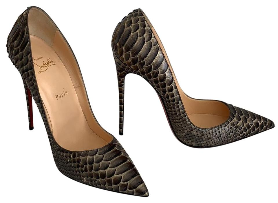 2a75bacfd6fa Christian Louboutin So Kate 130 Python Pumps Size EU 41.5 (Approx ...