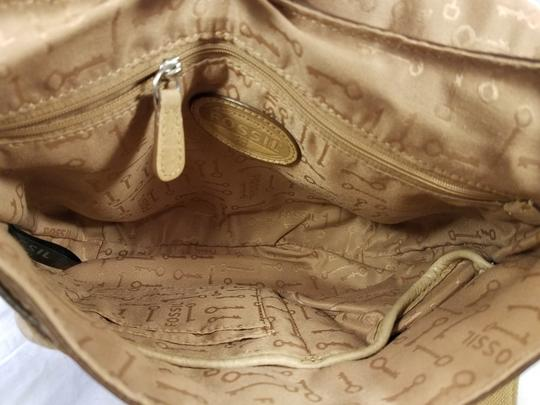 Fossil Maddox Reissued Purse And Clutch Matching Set Satchel in Light Gold/beige Image 10