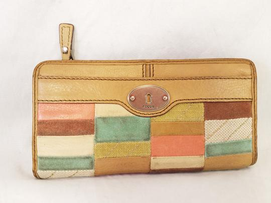 Fossil Maddox Reissued Purse And Clutch Matching Set Satchel in Light Gold/beige Image 11