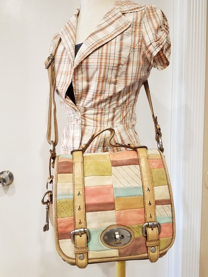 Fossil Maddox Reissued Purse And Clutch Matching Set Satchel in Light Gold/beige Image 2