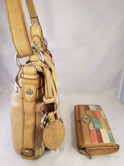 Fossil Maddox Reissued Purse And Clutch Matching Set Satchel in Light Gold/beige Image 5
