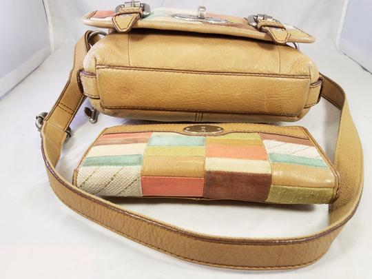 Fossil Maddox Reissued Purse And Clutch Matching Set Satchel in Light Gold/beige Image 7