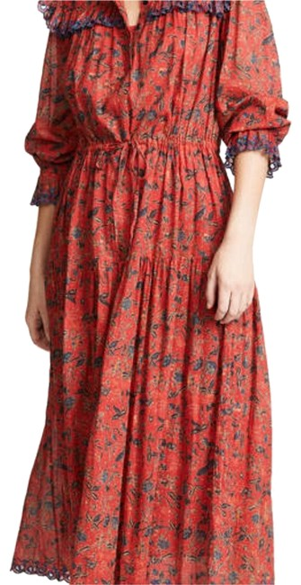 Item - Red Eina Mid-length Casual Maxi Dress Size 6 (S)