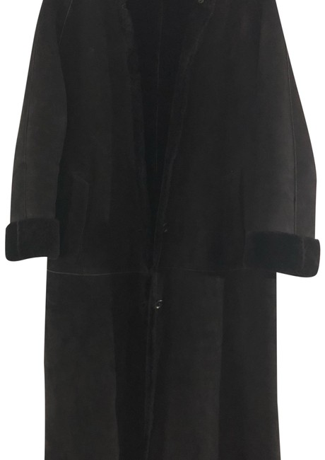 Item - Black Long Shearling Coat Size 6 (S)