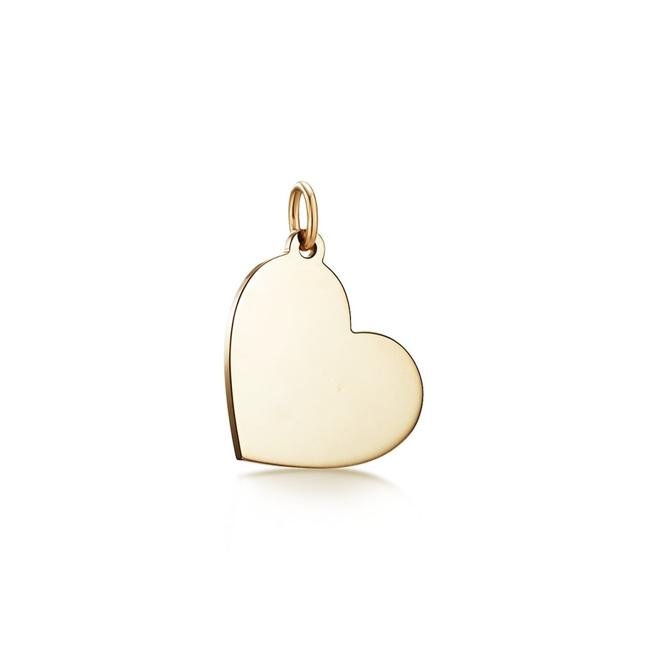 Item - Yellow Gold Sterling Silver Heart Tag/Pendant Charm