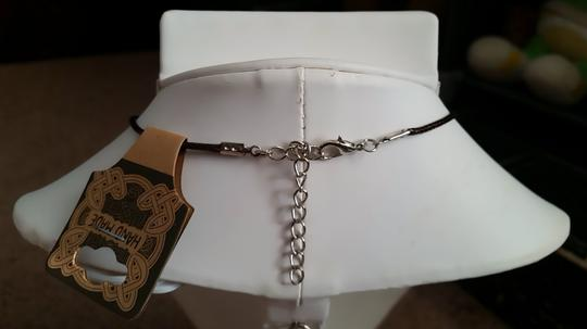 Fashion Jewelry For Everyone White Howlite Teardrop with Leather Cord Pendant Necklace Image 7